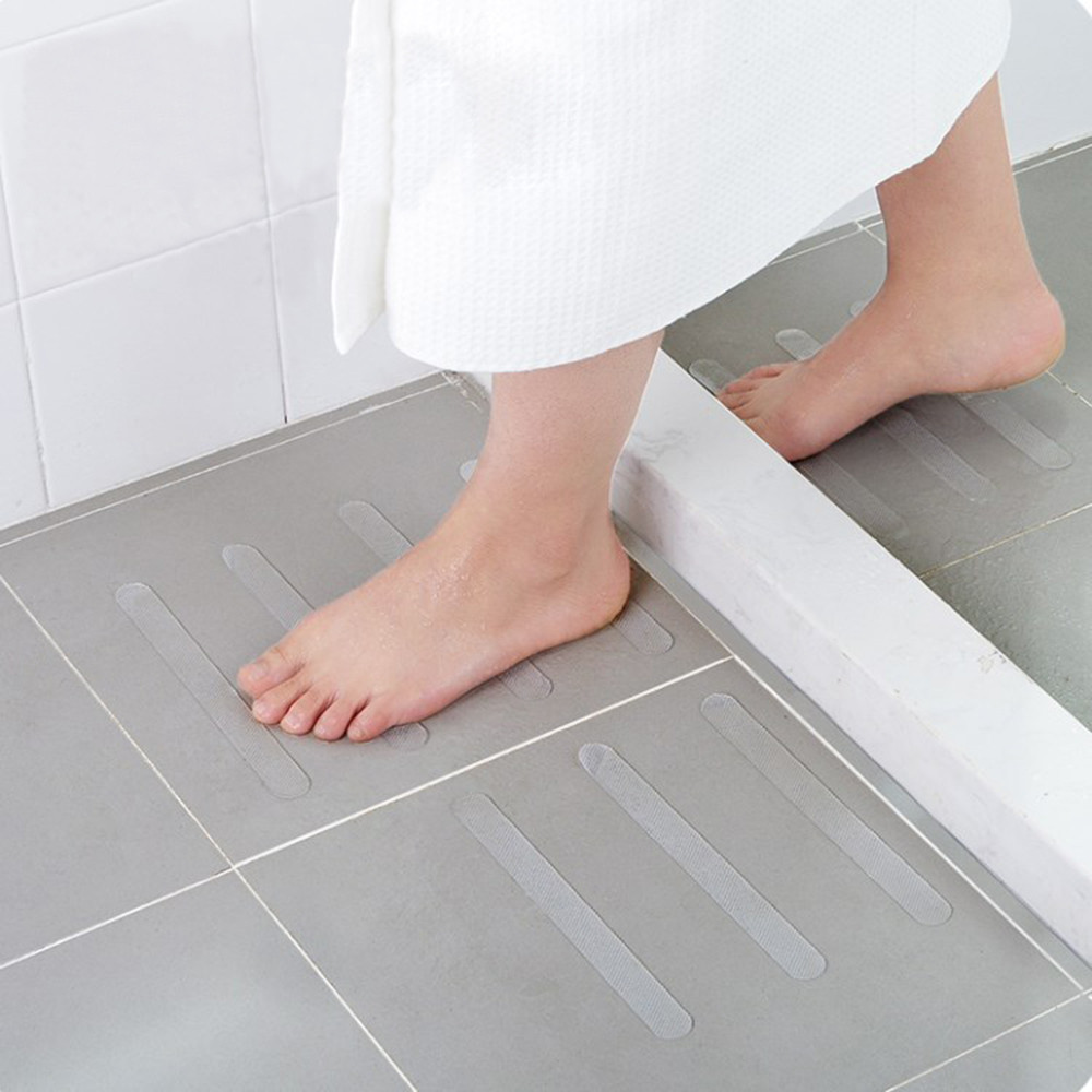 Bathroom floor sticker 5Pcs Anti Slip Bath Grip Stickers Non Slip Shower Strips Flooring Safety Tape home decoration accessories