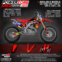 PowerZone Custom Team Graphics Backgrounds Decals 3M Stickers Kit For HONDA CRF250R 2014 2017 CRF450R 2013 2016 121