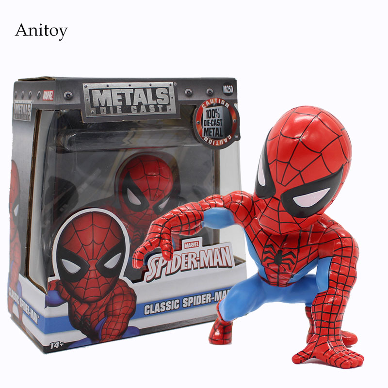 Marvel Spider-man Classic 1/10 Scale Painted Figure Bobble Head Doll Pvc Figure Collectible Toy 10cm Kt4058 Toys & Hobbies