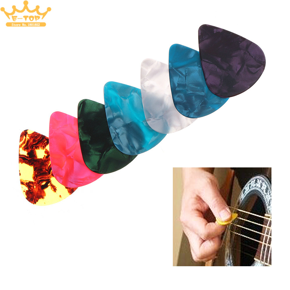 1 PCS Guitar Player Colorful Guitar Picks Multi ABS Plectrum Plucked String Instrument Accessories