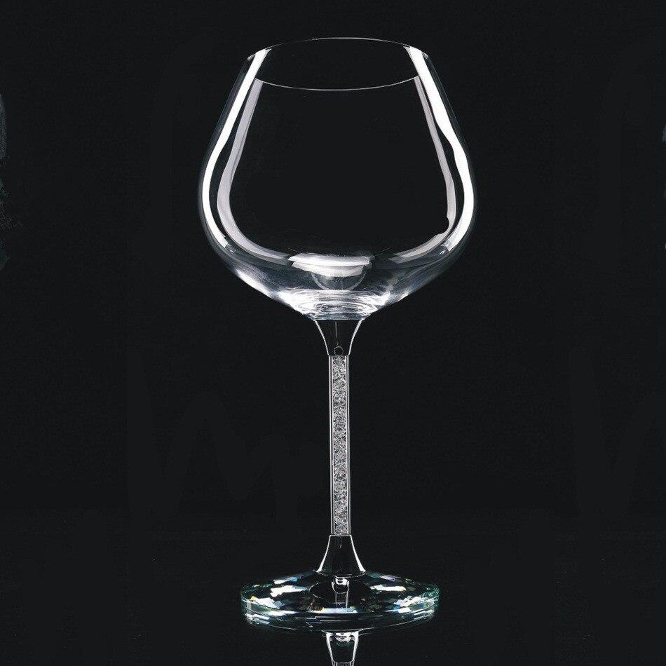 鉛フリークリスタル結婚式ワイングラスセットの2で結晶に幹  グループ上の ホーム&ガーデン からの ワイングラス の中 1