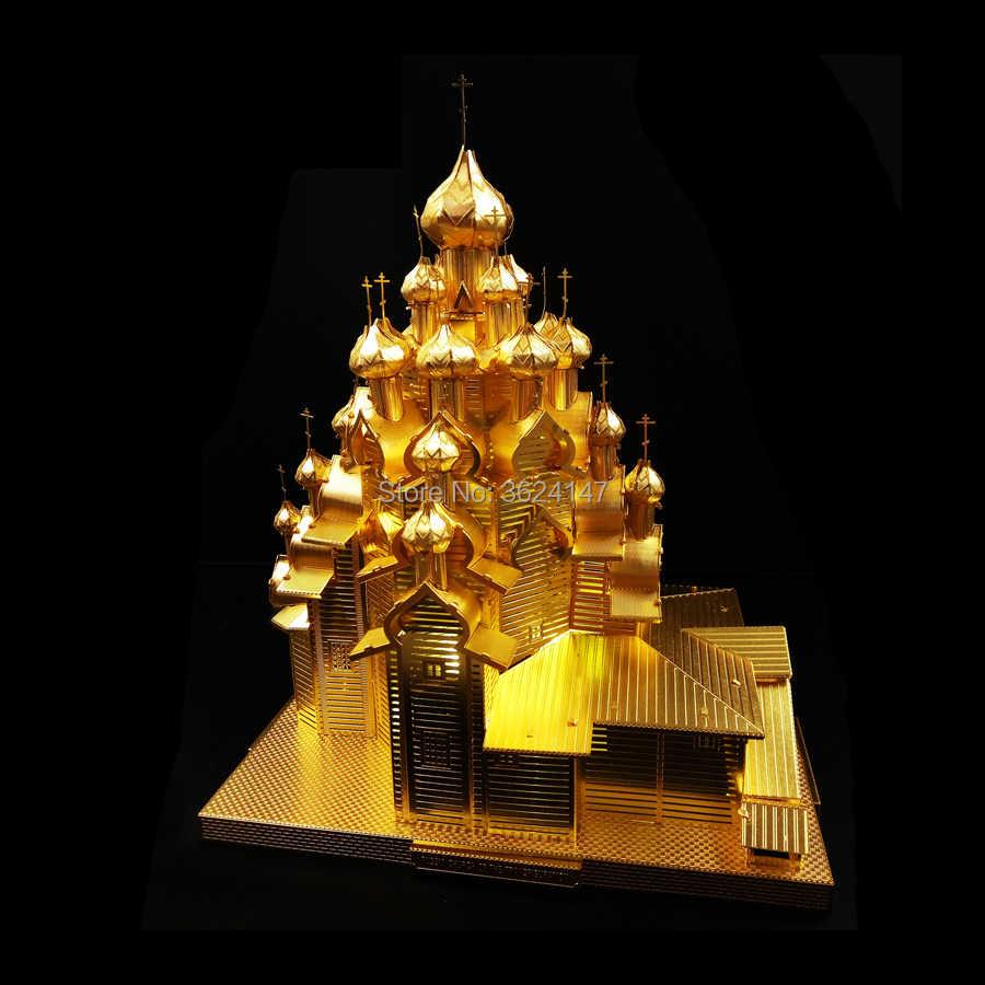 3D puzzle metalowe zestawy modeli bazyliki świętego piotra kościół przemienienia pańskiego M1 abrams zbiornika pegasus i będzie wesołych świąt dla wybrać