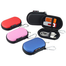 Portable Digital Gadget Travel Storage Bag for Earphone, U Disk, SD Card, USB Data Cable, Waterproof Mini Oval Pouch with Hook