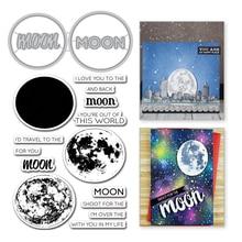 YaMinSanNiO Moon Letter Metal Cutting Dies Word Stamps Scrapbooking For Making Album Decorative Embossing Craft Stencil Die Cut