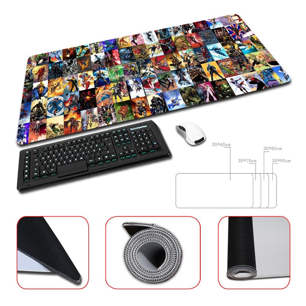 Top Game Mouse Pad Print Locking Edge PC Computer Gaming Batman Mousepad Rubber Play Mat Marvel