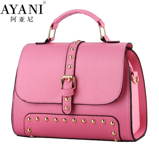 AYANI Brand 100% New tote Women bags fashion Rivet female Korean ...