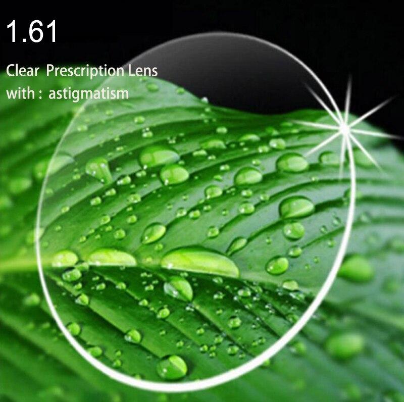 1.61 lentilles de Prescription avec astigmatisme lentilles de haute qualité en résine asphérique pour lentilles de myopie