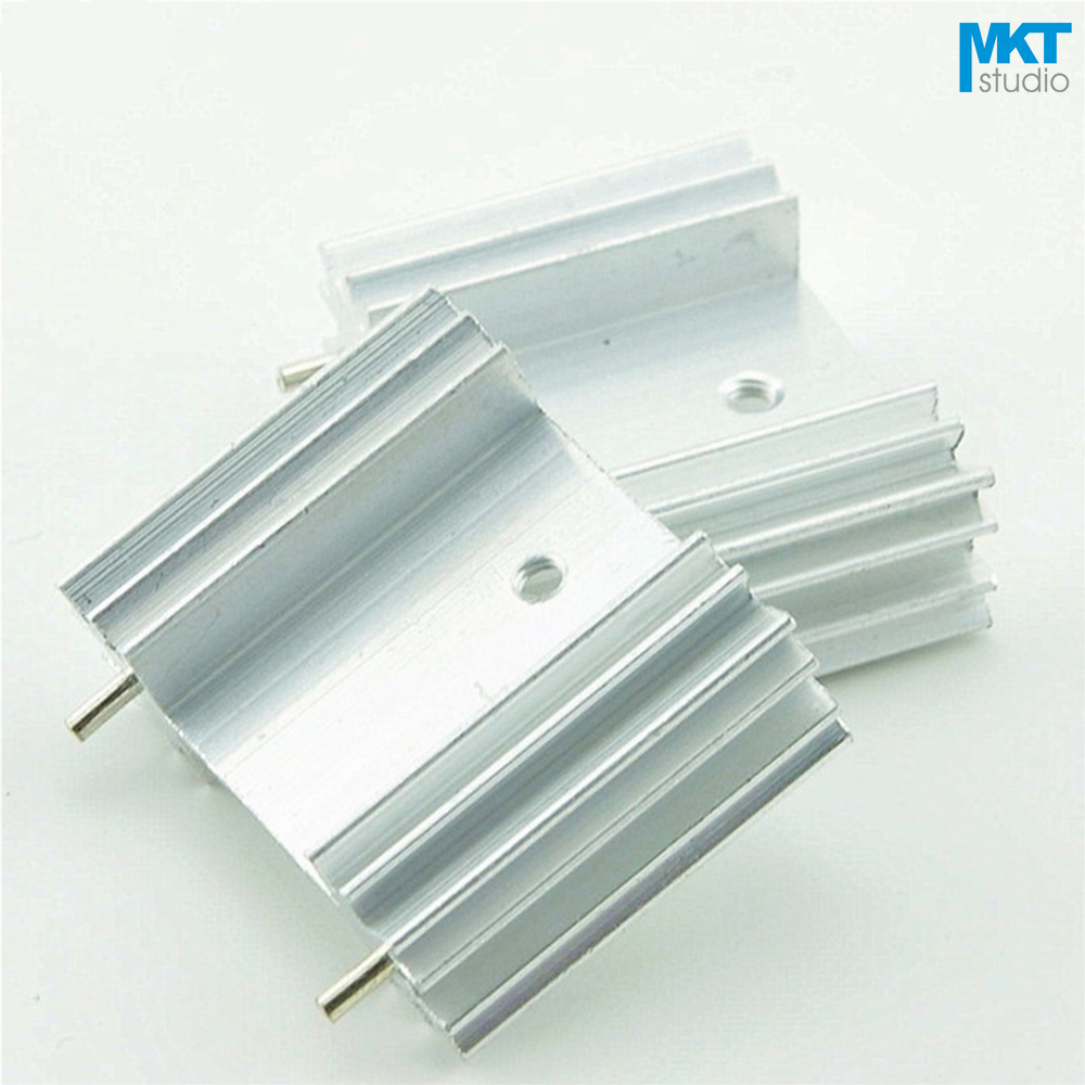 100Pcs 25x34x12W Pure Aluminum Cooling Fin Radiator Heat Sink
