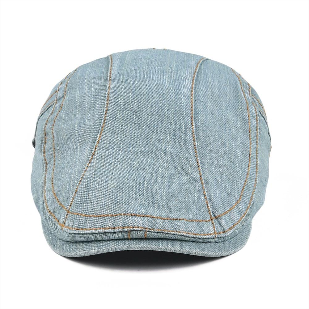 9c937299a19 VOBOOM Summer Cotton Newsboy Caps Beret Men Women Washed Denim Gatsby Flat  Cap Vintage Ivy Hat Adjustable Retro Golf Boina 388-in Newsboy Caps from  Apparel ...