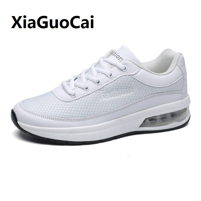 Spring Autumn Men Casual Shoes Breathable non-slip Lace-Up Fashion wear-resistant Walking Flat Air mesh Low help Shoes male