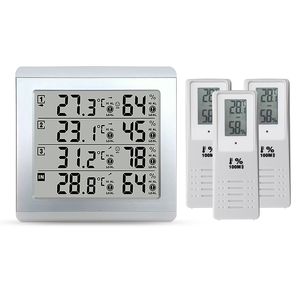 Weather Wireless Digital Thermometer Weather Station tester Outdoor Transmitter C F Max Min Value Display 0