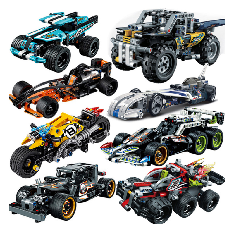 Decool Pull Back Technic Car Racer MOC Truck DIY building blocks kids legoinglys toys for children bricks supercar christmas