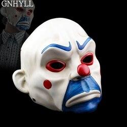 Erwachsene Hohe-Grade Harz Joker Bank Räuber Maske Clown Batman Dark Knight Halloween Prop Maskerade Partei Kostüm Phantasie Kleid