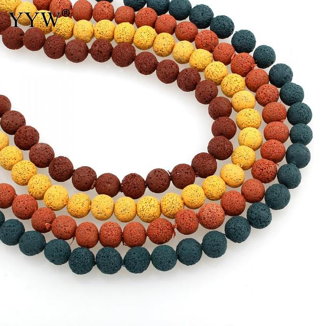 YYW Designer Jewelry New Arrival Colorful 8mm Round Beads Strand