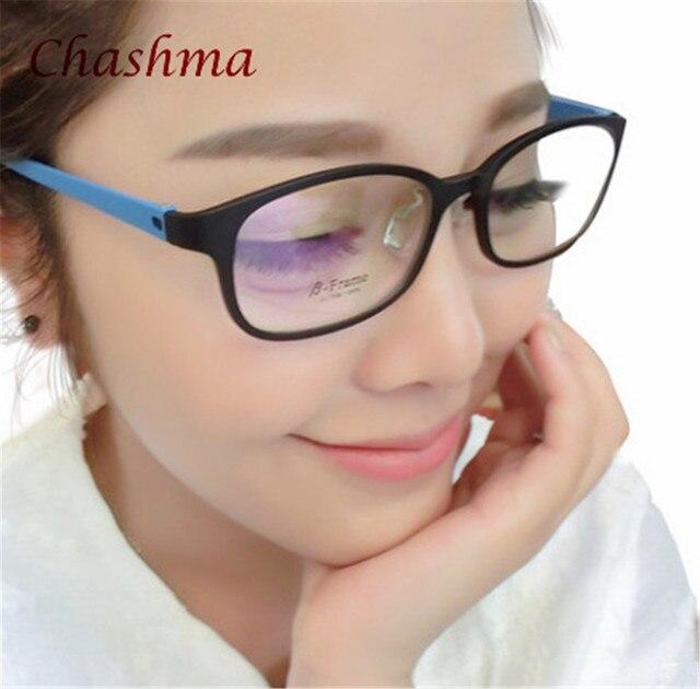 e08e84c7159 Girls TR 90 Optical Glasses Frame for Prescription Eyeglasses Black Red  Purple Blue Frame Cute Sweet