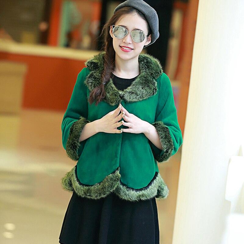 Nerazzurri zimní umělý kožich dámský s límečkem z lišky na srst 2019 luxusní barevné ležérní krátké plus velikost falešné kožešiny Bunda 5XL 6xl 7xl