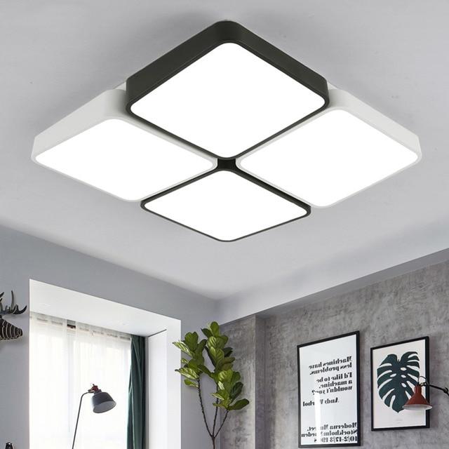 Modern LED Ceiling Light Lamp Panel Flower Lighting Fixture Bedroom ...