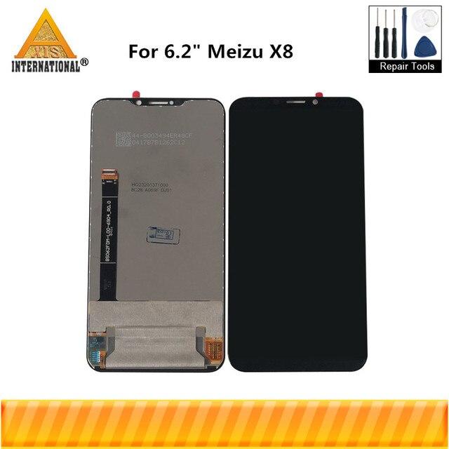 """Original 6.2 """"pour Meizu X8 X 8 Axisinternational LCD écran daffichage + écran tactile numériseur pour Meizu X8 M852H LCD cadre daffichage"""