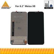 """Orijinal 6.2 """"Meizu X8 X 8 Axisinternational LCD ekran + dokunmatik Panel sayısallaştırıcı Meizu X8 M852H LCD ekran çerçeve"""