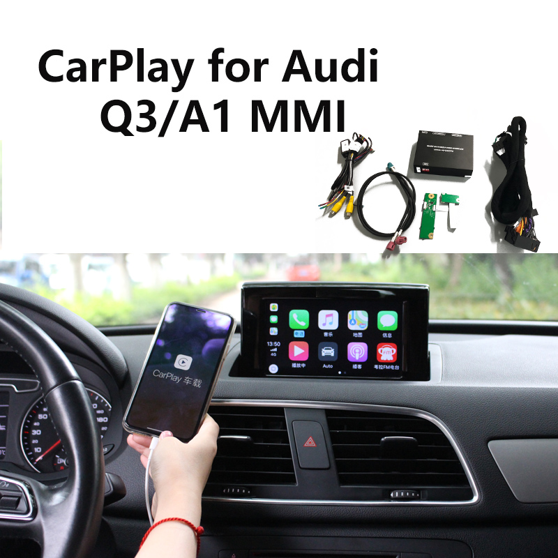 carlinke Apple CarPlay interface for Audi A1 Q3 MMI factory Screen upgrade with Android Auto iOS12 AirPlay screen Mirroring