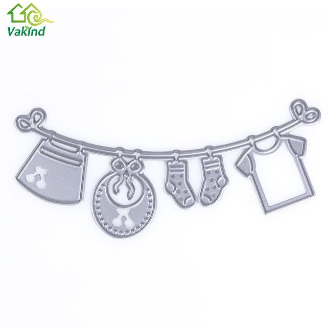 Baby Clothes Metal Cutting Dies Stencils For DIY Scrapbooking Photo Album  Gift Cards Making Baby Shower
