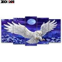 Zhui Star 5d Diy Diamond Embroidery Moonlight Eagle 5pcs Multi Picture Combination Diamond Painting Cross Stitch