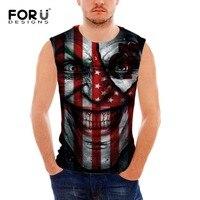 FORUDESIGNS Summer Tank Tops Suicide Squad Cool 3D Joker Prints Spandex Basic Shirt For Men Bodybuilding