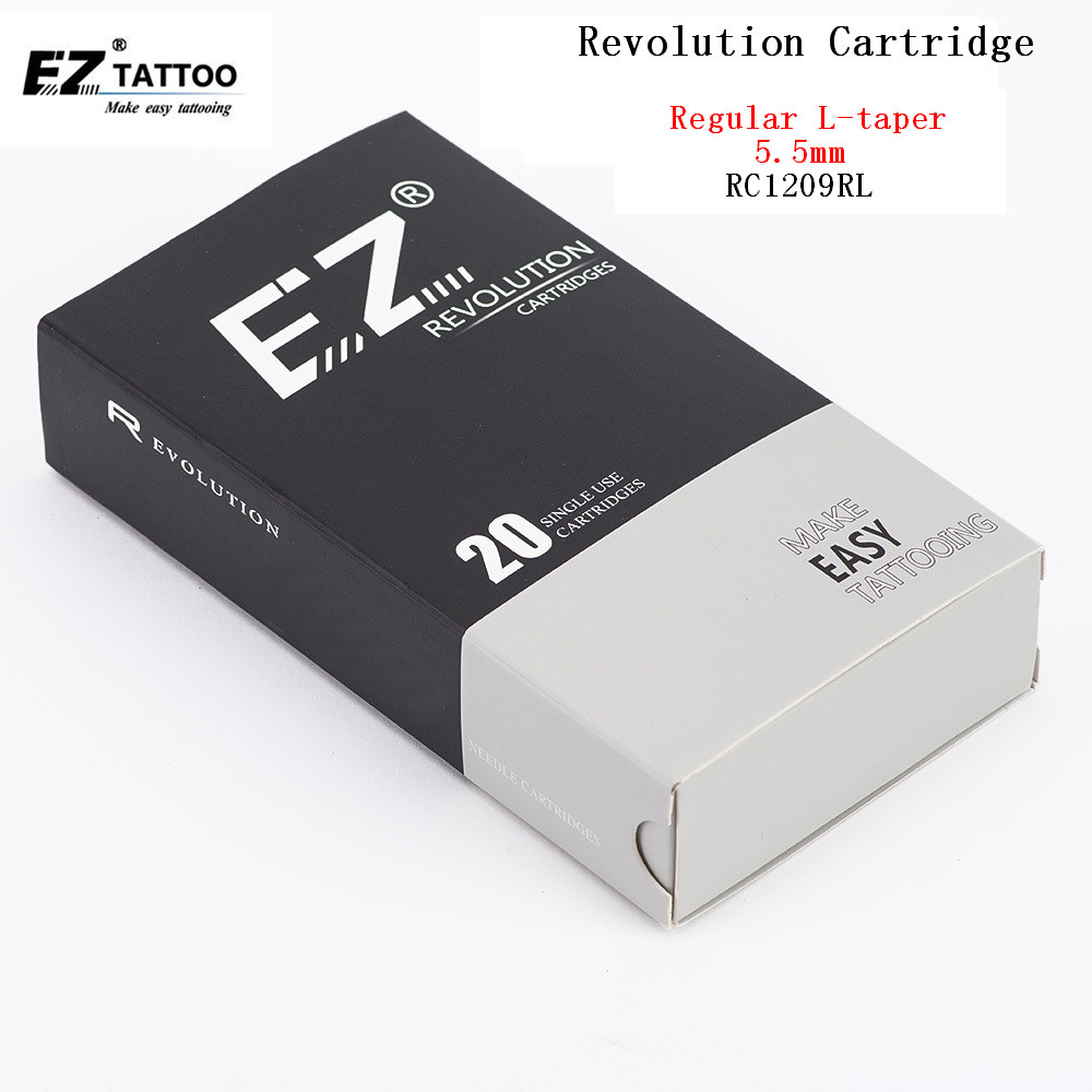 RC1209RL EZ Revolution Tattoo Needle Cartridges Rould Liner 12 (0.35 Mm) Regular Long Taper (5.5mm) For Cartridge Systems