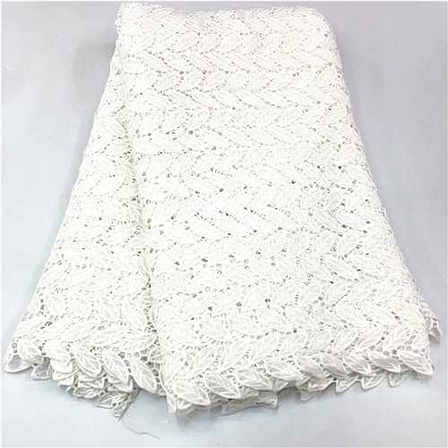 2019 latest african guipure lace white water soluble chemical lace fabric high quality african cord lace