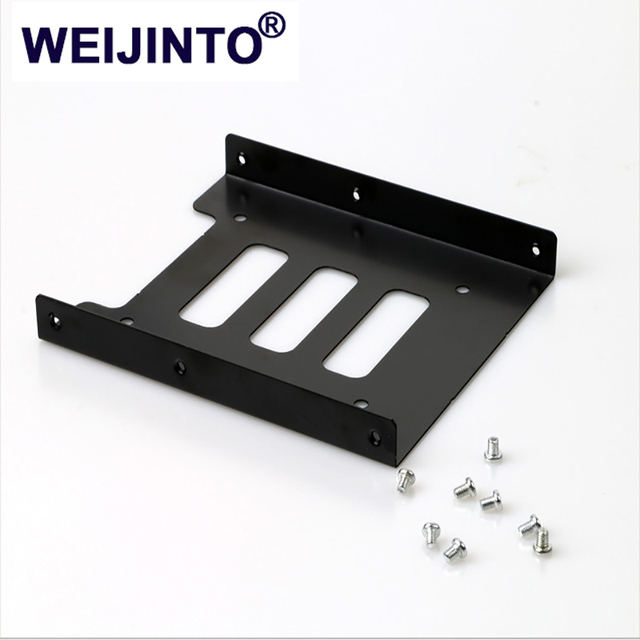 WIJENTO 2.5 To 3.5 inch SSD HDD Inclosure | Metal Mounting Adapter Bracket Dock For Desktop Laptop PC SSD Server
