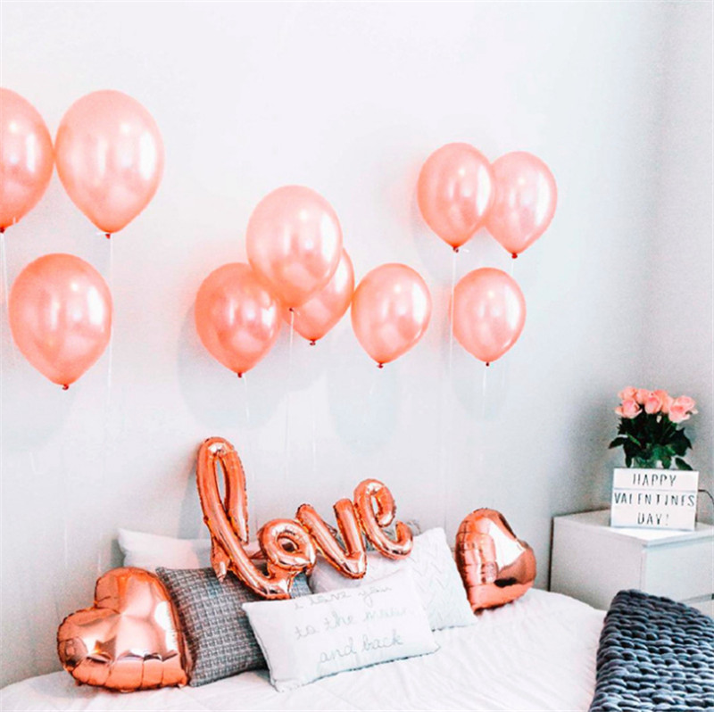 Taoqueen Cartoon Hat Rose Gold LOVE Character Balloon Wedding Birthday Decoration High Quality Suit
