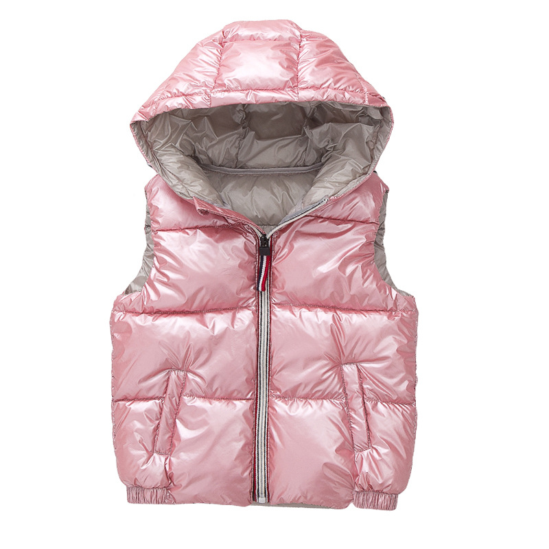 Child Waistcoat Children Outerwear Winter Coats Kids Clothes Warm Hooded Cotton Baby Boys Girls Vest For Age 3-10 Years Old(China)