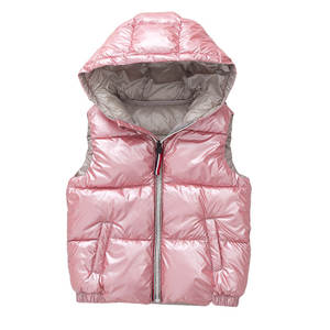 Vest Coats Hooded Baby-Boys-Girls Winter 3-10-Years-Old Kids Child Outerwear Warm Cotton
