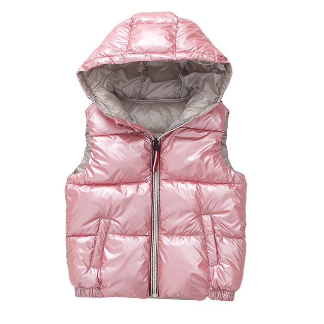 Child Waistcoat Children Outerwear Winter Coats Kids Clothes Warm Hooded Cotton Baby Boys Girls Vest For Age 3-10 Years Old