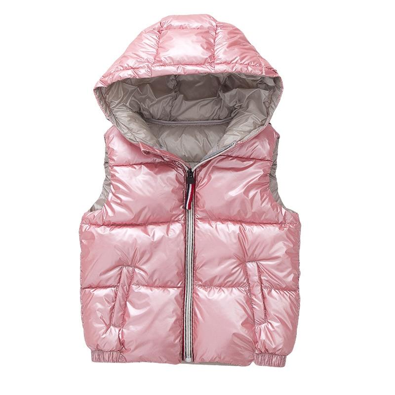 Gilet enfant vêtements d'extérieur pour enfants manteaux d'hiver enfants vêtements chauds à capuche coton bébé garçons filles gilet pour âge 3-10 ans