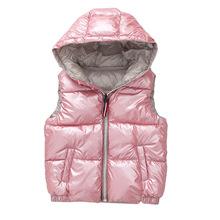 Kamizelka dziecięca dzieci kurtki zimowe płaszcze dzieci Odzież ciepły Bluza z kapturem bawełna Baby Boys Girls Vest for Age 3-10 Years Old tanie tanio Odzież wierzchnia i Płaszcze JT-1255 Dobby Hooded Unisex Pasuje do rozmiaru Weź swój normalny rozmiar Moda L amour de garde