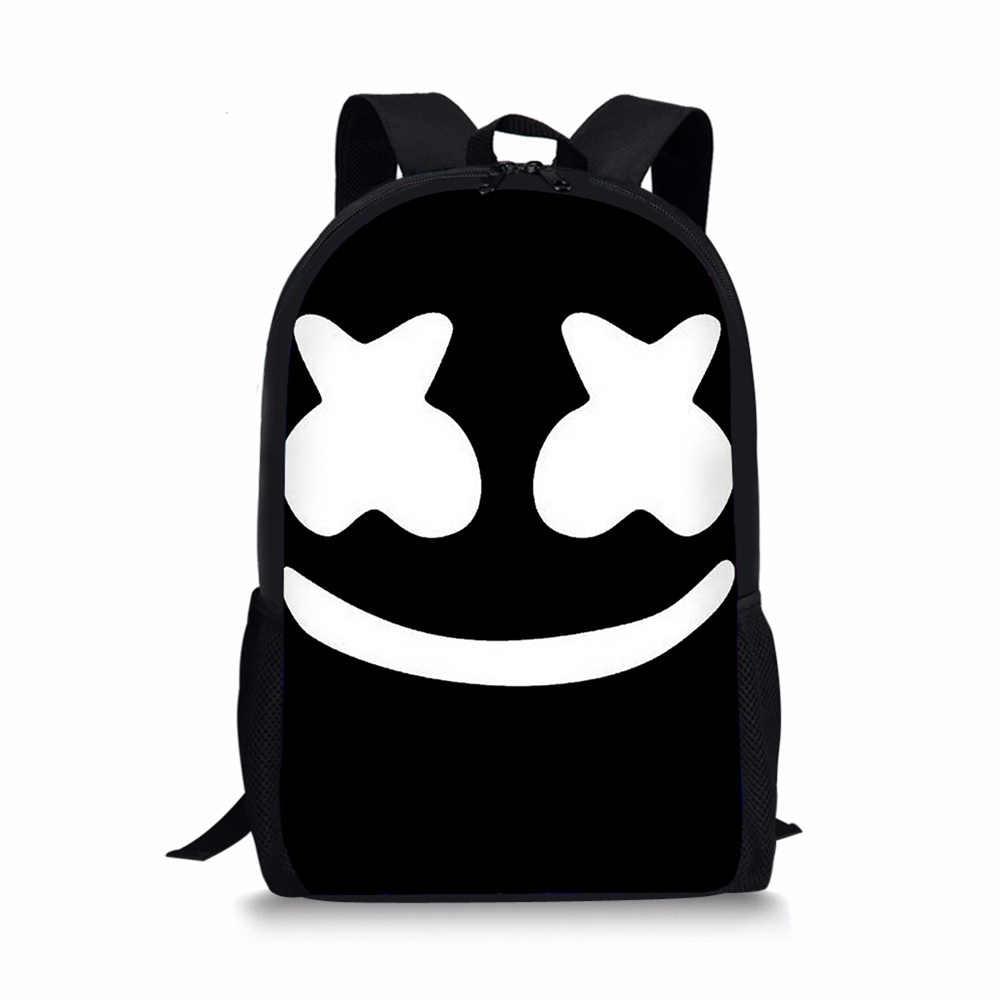 979565c9da11 Noisydesigns School Bags marshmello Pattern Printed for High School Boys  Girls dj Children s Backpack for Teenager