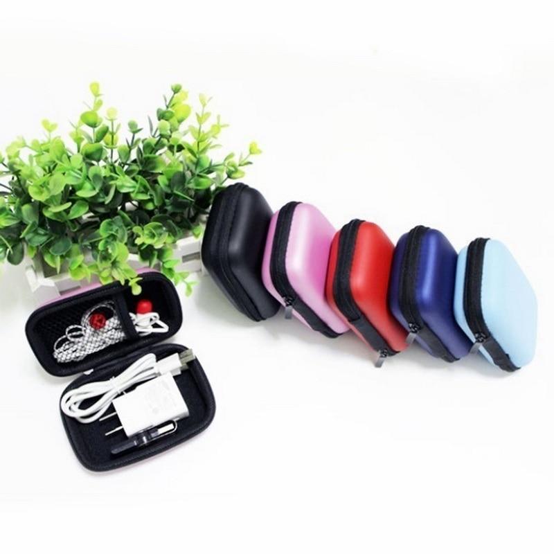 Чехол-контейнер для монет, наушников, защитная коробка для хранения, цветные наушники чехол для путешествий, сумка для хранения наушников, кабель для передачи данных, зарядное устройство