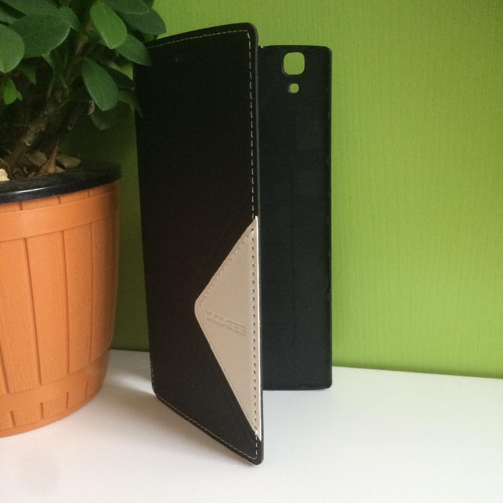 DOOGEE X5 MAX Kaca Tempered + Pelindung Kulit Kasus Flip Kasus Asli - Aksesori dan suku cadang ponsel - Foto 3