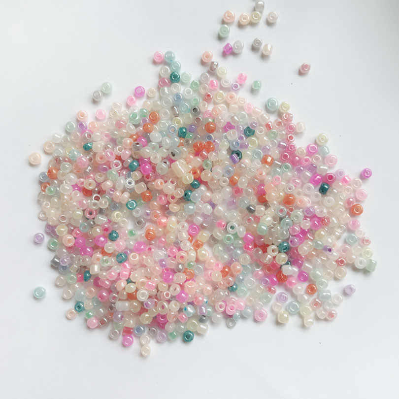 1500Pcs 2mm Czech Glass Seed Spacer Beads Jewelry Making DIY Findings Crafts