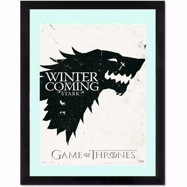 Game Of Thrones Winter Coming Vintage Posters And Prints Home Decor   Canvas Painting Modern Wall Art Picture Silk Fabric