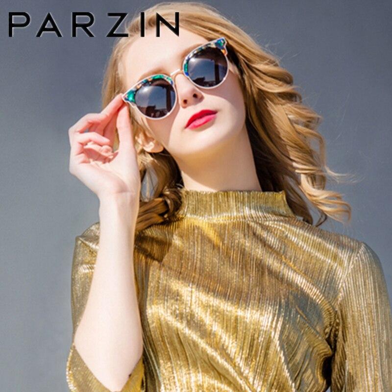 PARZIN Polarisierte Vintage Sonnenbrille Frauen Übergroßen Weiblichen Sonnenbrille Damen Fahren Anti Glare Gläser Zubehör 9652