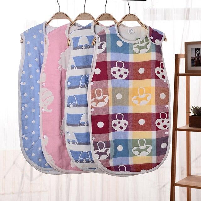 2017 новый ребенок 6 слоя марли спальный мешок ребенка анти-гладкий спальный мешок мультфильм ребенка four seasons рукавов уход живот