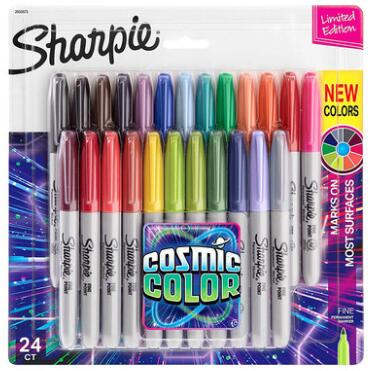 NIEUW Pakket 12 24 kleuren Amerikaanse sanford sharpie permanente markers, Sharpie Fine Point permanente markers