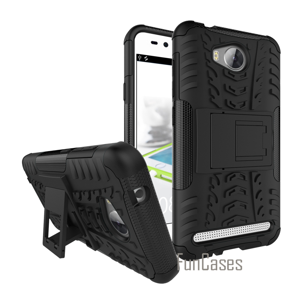For Huawei Y3 2 / Y3II / Y3 II PC + Silicone Dual Layer Rugged Combo Military 3D Case Fo ...