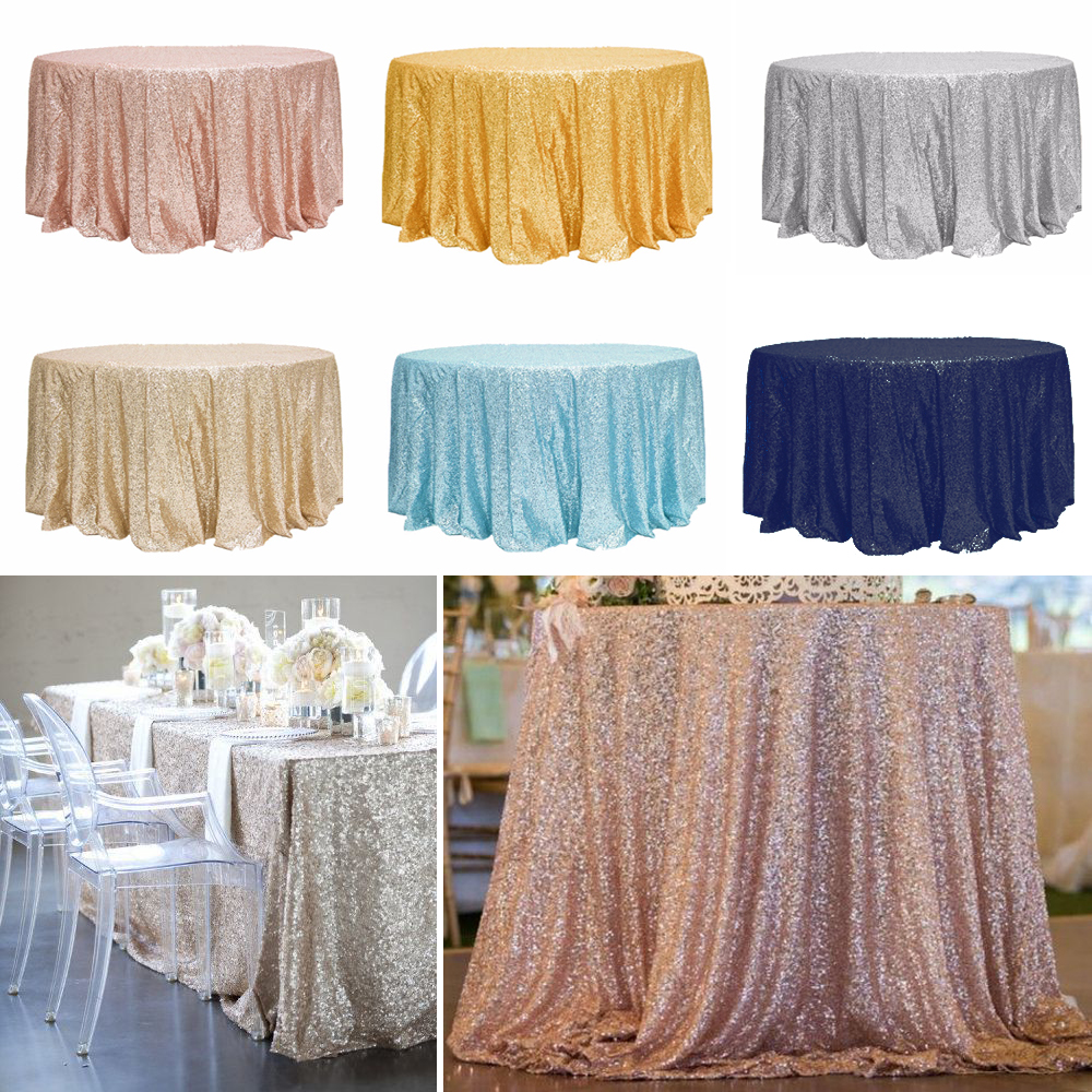 High Quality 120 Inch Round /90inch * 132inch Rectangular / 72 Inch Overlay  Sparkly Glitz Sequin Glamorous Tablecloth For Event In DIY Craft Supplies  From ...
