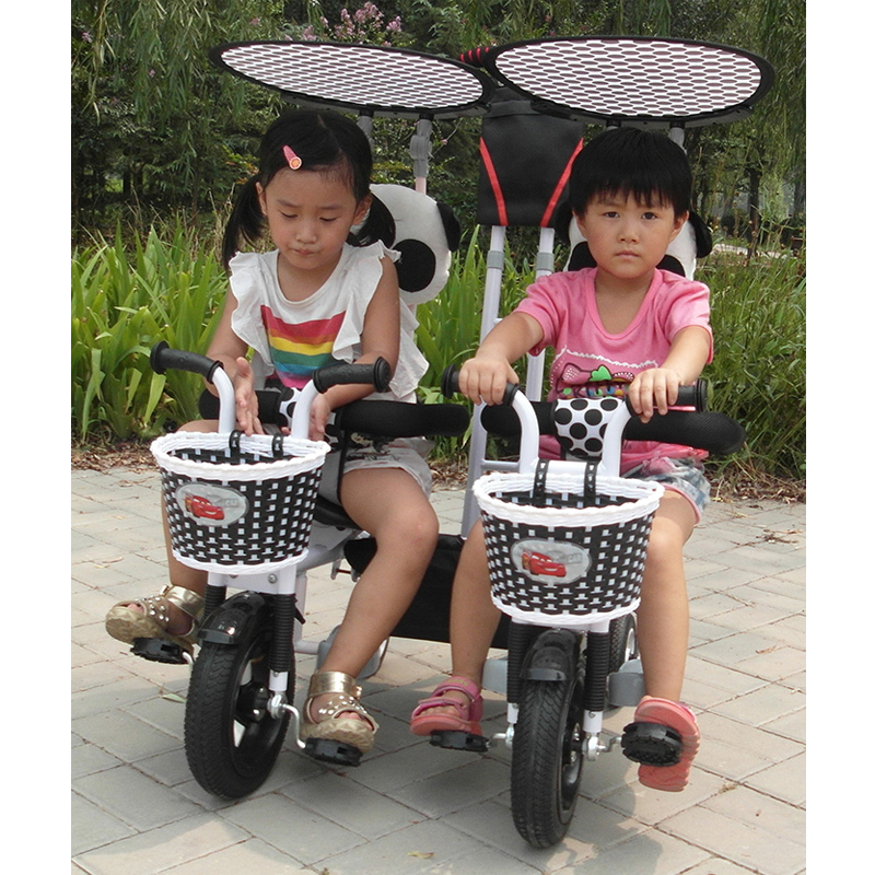 Aliexpress Com Buy Baby Twins Tricycle Bicycle Stroller