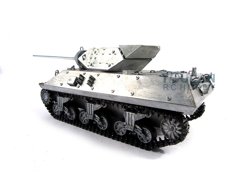 Mato 1/16 RC Tank 100% Metal M10 RTR Infrared Barrel Recoil Metal Color 1210 mato sherman tracks 1 16 1 16 t74 metal tracks