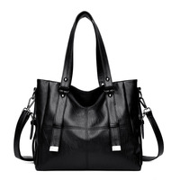 2018 Special Offer Lady Luxury PU Leather Shoulder Bag Casual Tote Women Handbag Vintage Hobo Large Capacity Strap Hand Bags