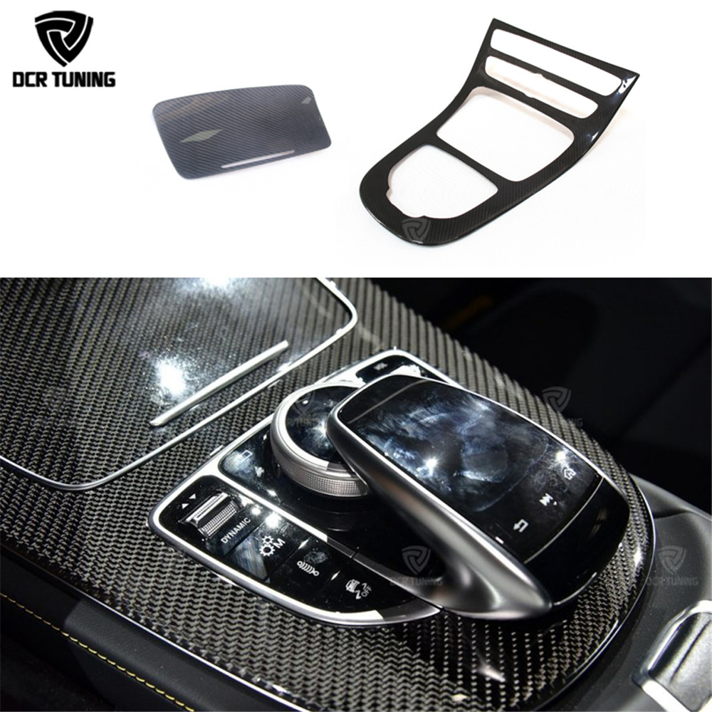 For Mercedes E class W213 Center Console panel Trim for Mercedes Benz W238 Carbon Dashboard Trim